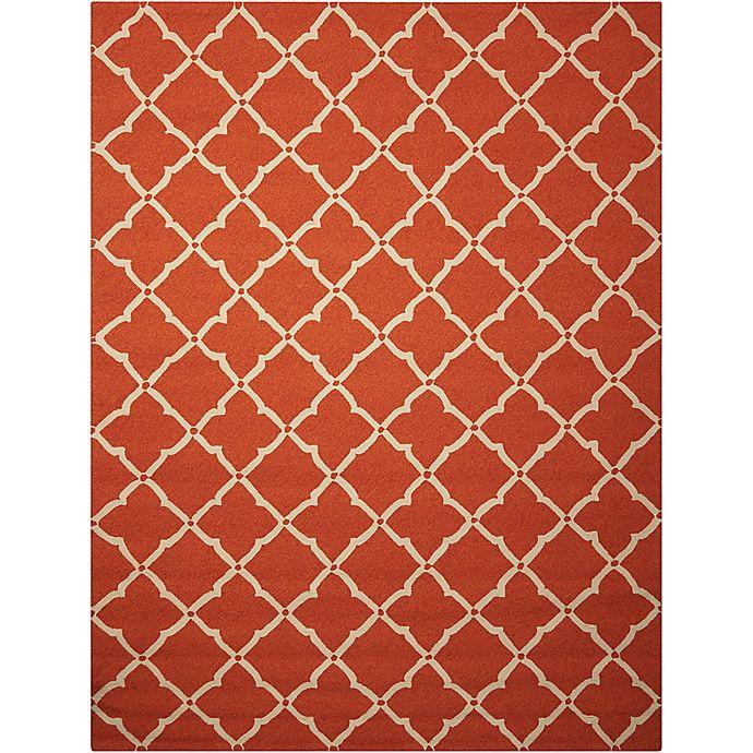 Alternate image 1 for Nourison Home & Garden Portico 27' x 45' Area Rug in Orange