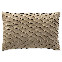 Highline Bedding Co. Madrid Pleated Oblong Throw Pillow in Gold
