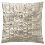 Highline Bedding Co. Madrid Quilted Square Throw Pillow in Gold