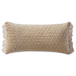 Waterford® Ansonia 11-Inch x 22-Inch Quilted Oblong Throw Pillow in Ivory
