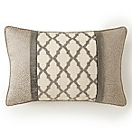 Rose Tree Portici Geometric Throw Pillow in Pewter