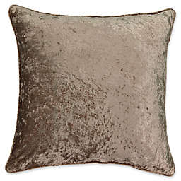Beautyrest® Sandrine Velvet Square Throw Pillow in Mink