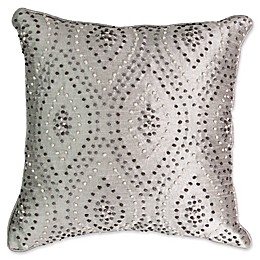 Beautyrest® Chacenay Knotted Embroidered Square Throw Pillow in Grey