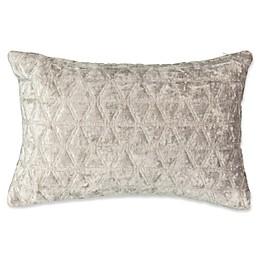 Beautyrest® Social Call Faux Velvet Throw Pillow in Grey