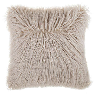 Mongolian Faux Fur Square Throw Pillow