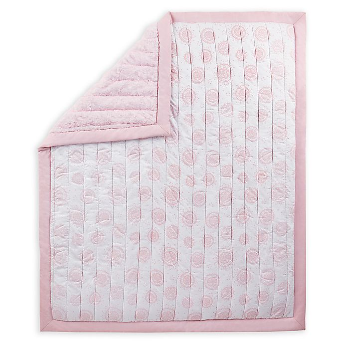 Alternate image 1 for Wendy Bellissimo™ Mix & Match Reversible Medallion Quilt in Pink/White