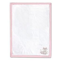Wendy Bellissimo™ Mix & Match Lil Fox Appliqued Blanket in White/Pink