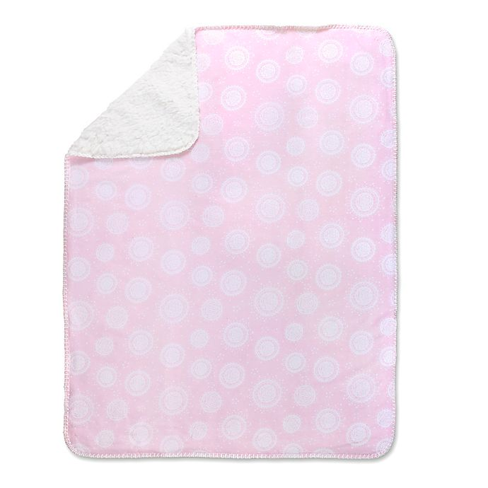 Alternate image 1 for Wendy Bellissimo™ Mix & Match Medallion Blanket in Pink/White
