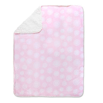 Wendy Bellissimo™ Mix & Match Medallion Blanket in Pink/White
