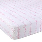 "Wendy Bellissimo™ Mix & Match ""Isn't She Lovely"" Fitted Crib Sheet"