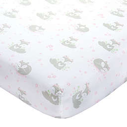 Wendy Bellissimo™ Mix & Match Lil Fox Fitted Crib Sheet in Pink/Grey
