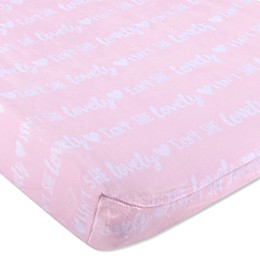 Wendy Bellissimo™ Mix & Match Velboa Lovely Changing Pad Cover in Pink/White
