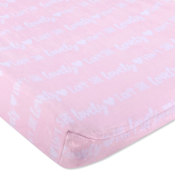 Alternate image 1 for Wendy Bellissimo™ Mix & Match Velboa Lovely Changing Pad Cover in Pink/White