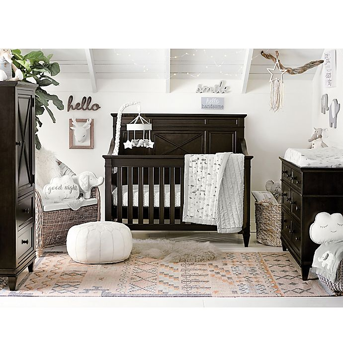 Alternate image 1 for Wendy Bellissimo™ Mix & Match Cloud Moon Crib Bedding Collection in Grey/White