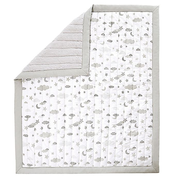Alternate image 1 for Wendy Bellissimo™ Mix & Match Reversible Cloud Moon Quilt in Grey/White