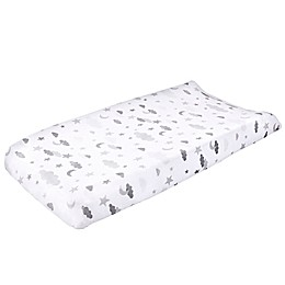 Wendy Bellissimo™ Mix & Match Velboa Cloud Moon Changing Pad Cover in Grey/White