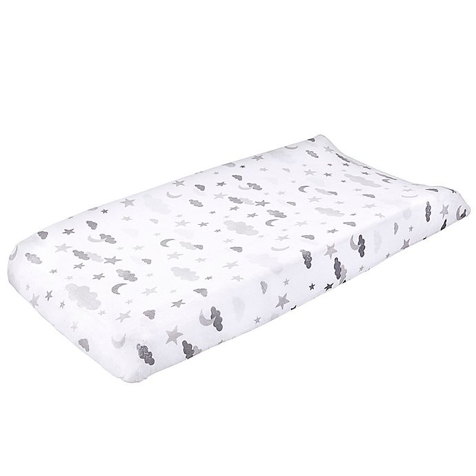 Alternate image 1 for Wendy Bellissimo™ Mix & Match Velboa Cloud Moon Changing Pad Cover in Grey/White