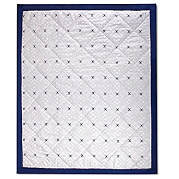 Wendy Bellissimo™ Mix & Match Reversible Aztec Print Quilt in Grey/Navy