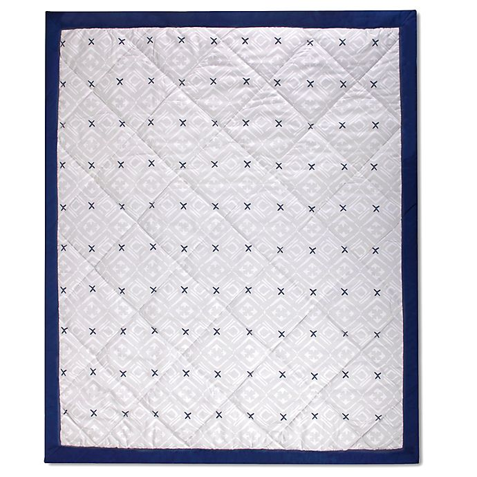 Alternate image 1 for Wendy Bellissimo™ Mix & Match Reversible Aztec Print Quilt in Grey/Navy