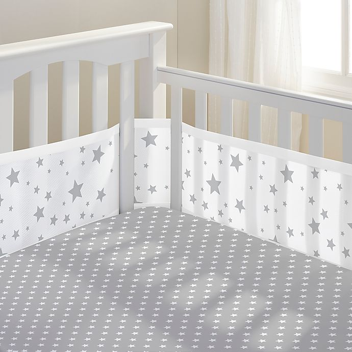 Breathablebaby Star Light 3 Piece Classic Crib Bedding Set In Grey Buybuy Baby