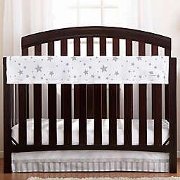 BreathableBaby® Railguard™ Star Light Crib Rail Cover in Grey