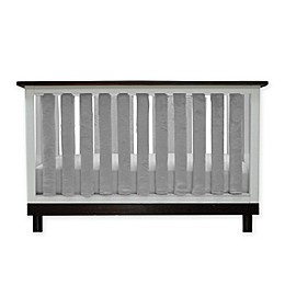 Go Mama Go Designs® Pure Safety Minky Vertical Crib Liners in Grey