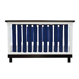 Go Mama Go Designs® Pure Safety Minky Vertical Crib Liners in Navy