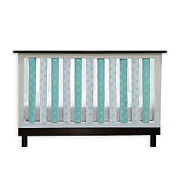 Go Mama Go Designs® Pure Safety Tribal Cotton Couture Vertical Crib Liners in Aqua