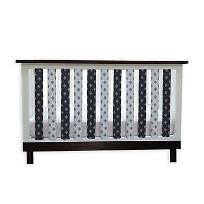 Go Mama Go Designs® Pure Safety Tribal Cotton Couture Vertical Crib Liners in Black