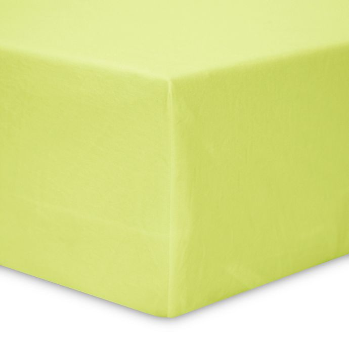 Alternate image 1 for BSensible Select Breathable Top and Sides Fitted Waterproof Crib Sheet Protector in Green