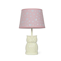The Peanutshell™ Owl Peek A Boo Heart Lamp