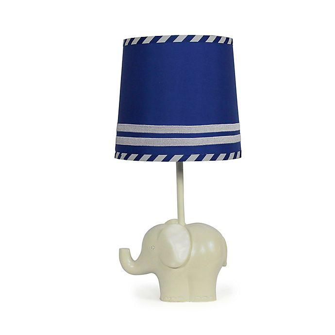 Alternate image 1 for The Peanutshell™ Elephant Blue Stripe Lamp