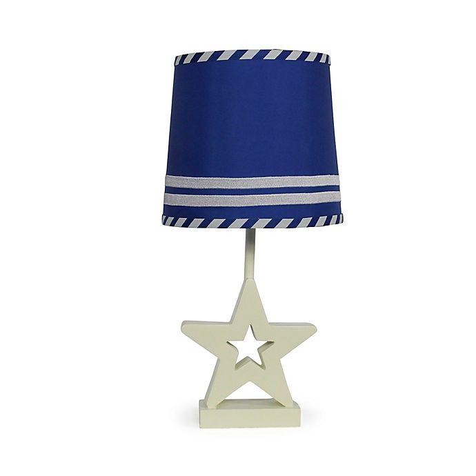 Alternate image 1 for The Peanutshell™ Star Blue Stripe Lamp