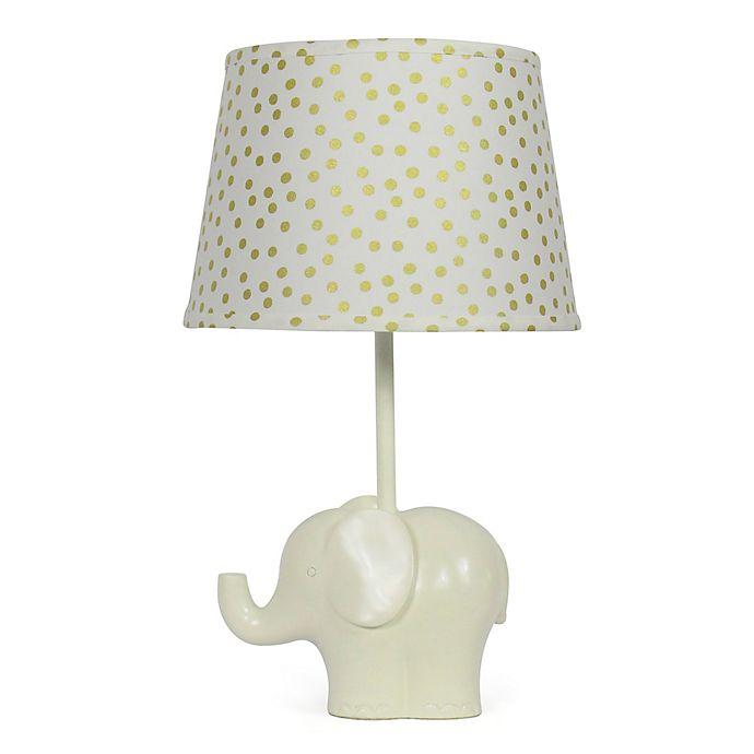 Alternate image 1 for The Peanutshell™ Elephant Gold Confetti Lamp