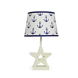 The Peanutshell™ Star Navy Anchors Lamp