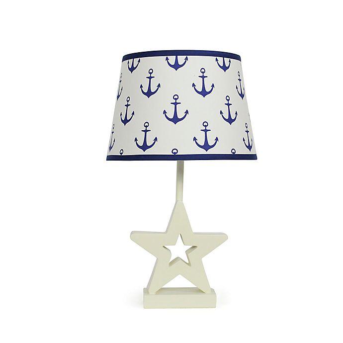 Alternate image 1 for The Peanutshell™ Star Navy Anchors Lamp