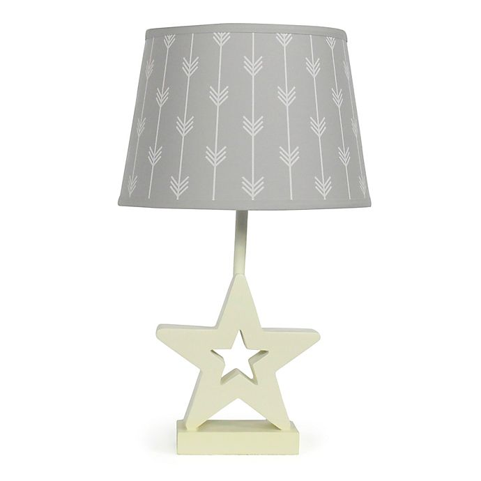 Alternate image 1 for The PeanutShell™ Star Grey Arrows Lamp