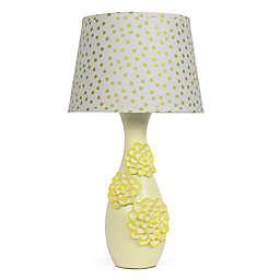 The Peanut Shell® Dahlia Gold Confetti Lamp