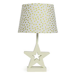 The PeanutShell™ Star Gold Confetti Lamp