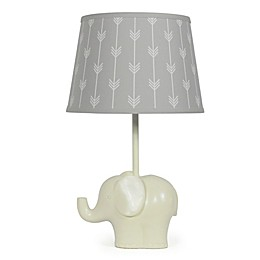 The PeanutShell™ Elephant Grey Arrows Lamp