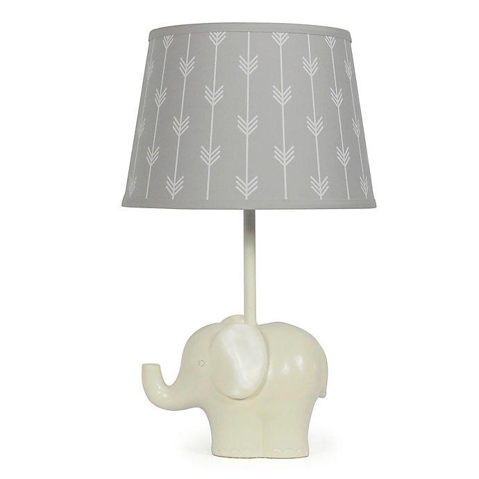 Alternate image 1 for The PeanutShell™ Elephant Grey Arrows Lamp