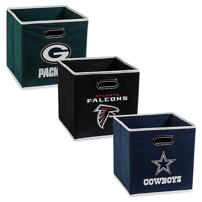 Alternate image 1 for NFL Collapsible Storage Bin Collection