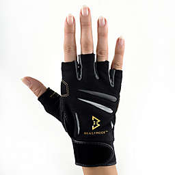 Beast Mode by Bionic Gloves Women's Fingerless Fitness Gloves in Black