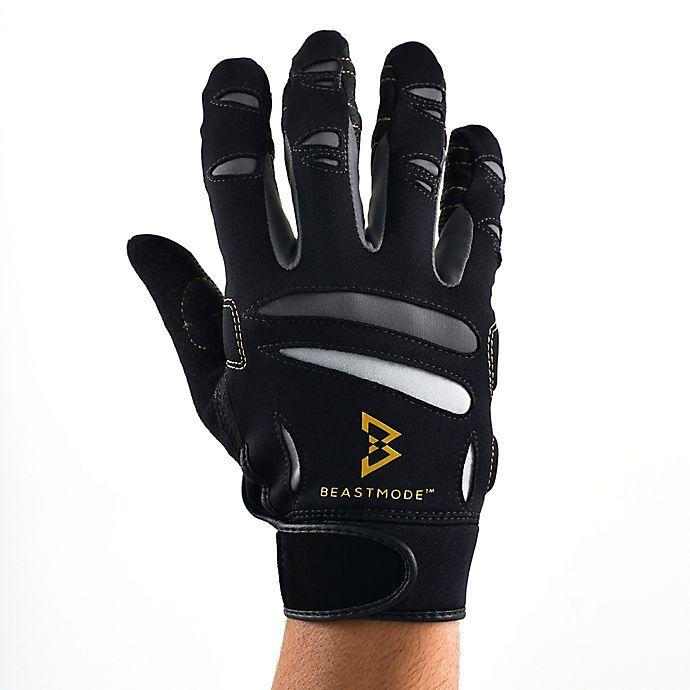 Alternate image 1 for Beast Mode by Bionic Gloves Men's Full-Finger Fitness Gloves in Black