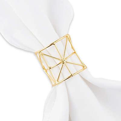 Kassatex Moderne Napkin Ring in Gold