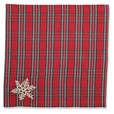 Pillow Perfect Stuart Plaid Napkins in Red (Set of 2)