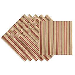 Design Imports Harvest Stripe Napkins (Set of 6)