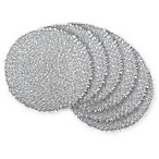 Design Imports Tinsel Placemats in Silver (Set of 6)