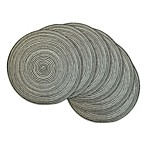 Design Imports Variegated Round Placemats (Set of 6)