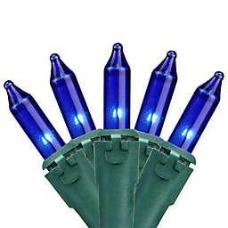 Northlight 8-Foot 35-Light Mini String Lights in Blue